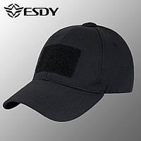 """🔥 Кепка тактическая """"Esdy - Flex"""" (черная) бейсболка, кепка зсу, кепка полиции, для охоты"""