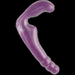 Безремневой страпон Doc Johnson The Gal Pal Purple, платинум силикон, диаметр 3см