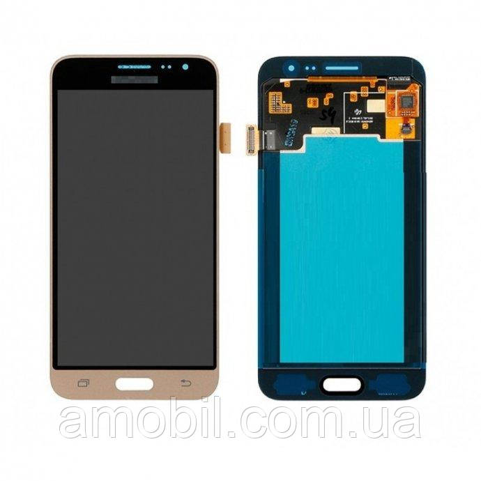 Дисплей + сенсор Samsung J320 Oled / J320H / J320HS Galaxy J3 2016 orig gold