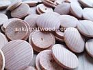 Заглушки дерев'яні 25мм (бук)_ 100шт, фото 2