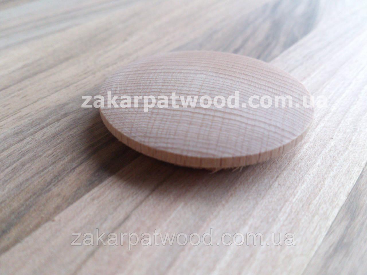 Заглушки дерев'яна яні 35мм (бук)_ 100шт