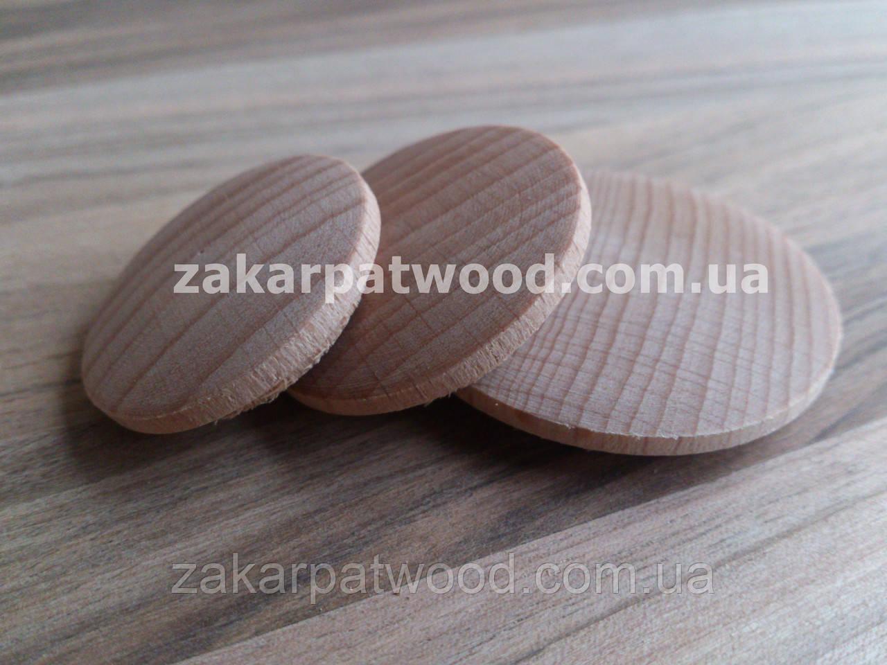 Заглушки дерев'яні 25мм (дуб)_ 100шт
