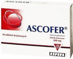 Ascofer увеличение гамоглобина дефицит железа. анемия. железо в таблетках Польша