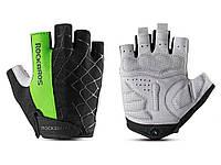 Велосипедные перчатки RockBros без пальцев XL Зеленый
