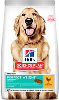 Hill's SP Canine Adult Perfect Weight Large Breed с курицей, 12 кг