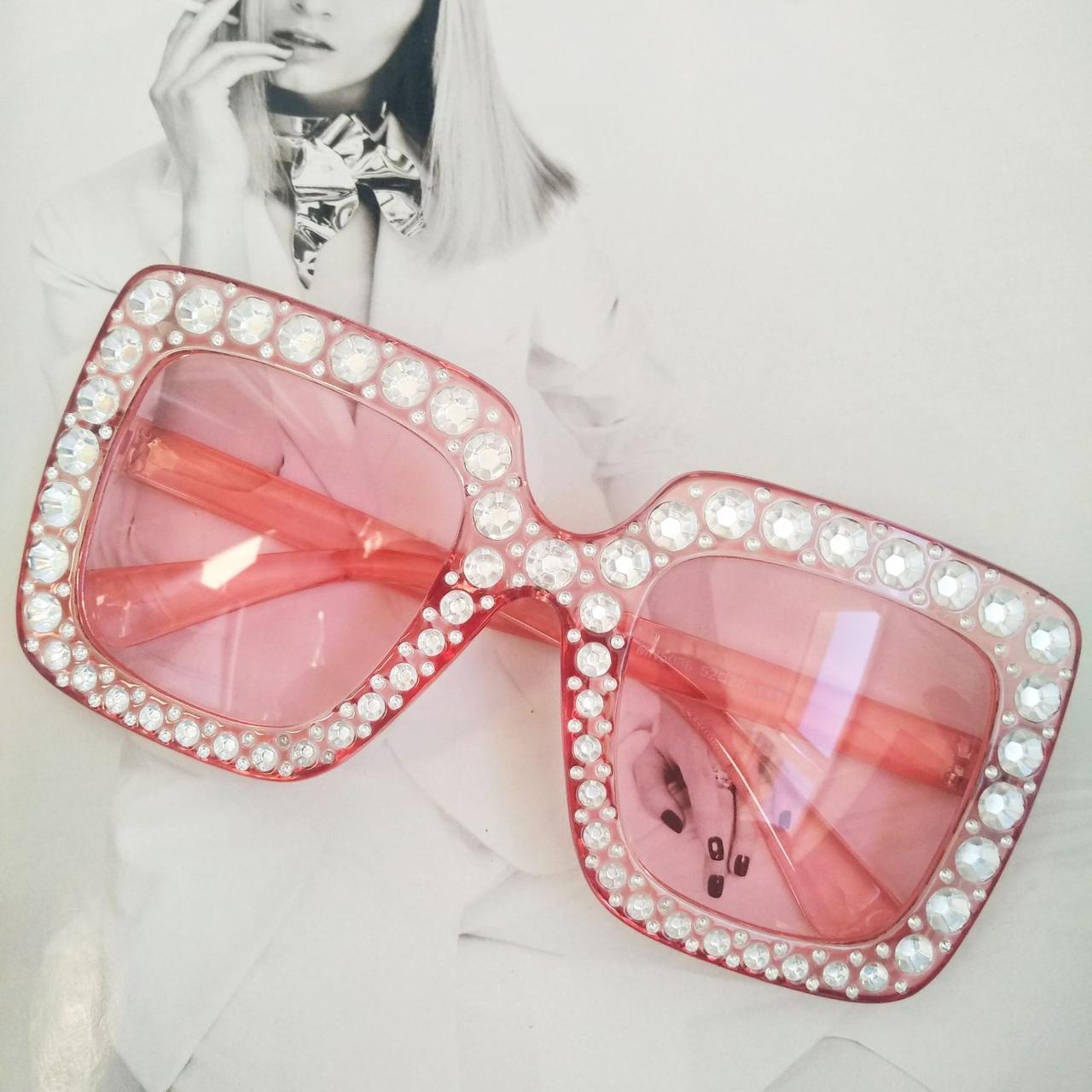 """Солнцезащитные очки в стиле Гуччи """"Gucci""""  Розовый"""