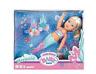 Детская Игровая Интерактивная кукла Zapf Сестричка-Русалочка 32см с диадемой Беби Борн Baby Born Zapf Creation