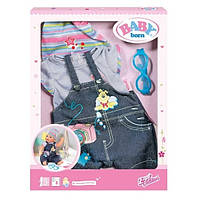 Детский Игровой Набор Джинсовой Одежды с комбинезоном для Куклы Бэби Борн 43 см Baby Born Zapf Creation