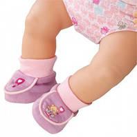 Детская Игровая Обувь для Куклы Бэби Борн Мягкие сапожки розовые с медвежонком 43 см Baby Born Zapf Creation