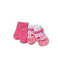 Детский Игровой Набор одежды для Куклы Бэби Борн Носки теплые 2 пары розовые 43 см Baby Born Zapf Creation