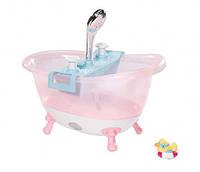 Детская Игровая Интерактивная ванночка с пеной для куклы розовая с душем Беби Борн Baby Born Zapf Creation