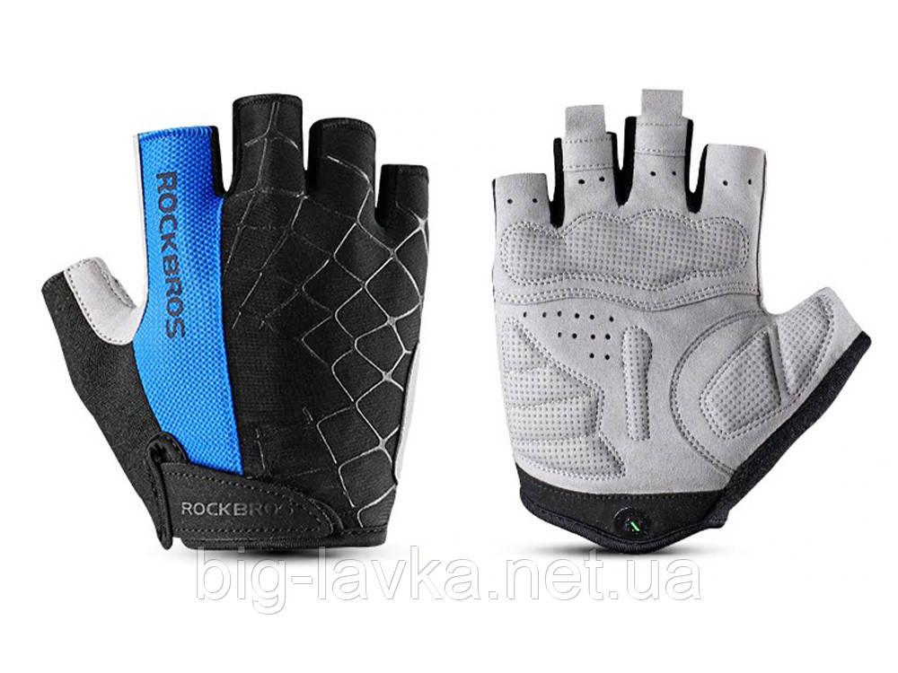 Перчатки спортивные для велосипедиста RockBros XL  Синий