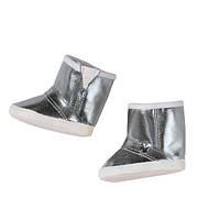 Детская Игровая Обувь для Куклы Бэби Борн Стильная зима блестящие серебряные с белым Baby Born Zapf Creation