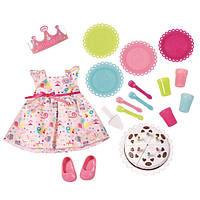 Детская Игровая Одежда для Куклы Бэби Борн Набор День рождения розовый с короной 43 см Baby Born Zapf Creation