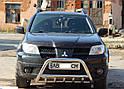 Кенгурятник с грилем (защита переднего бампера) Mitsubishi Outlander 2003-2007, фото 2