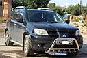 Кенгурятник с грилем (защита переднего бампера) Mitsubishi Outlander 2003-2007, фото 3