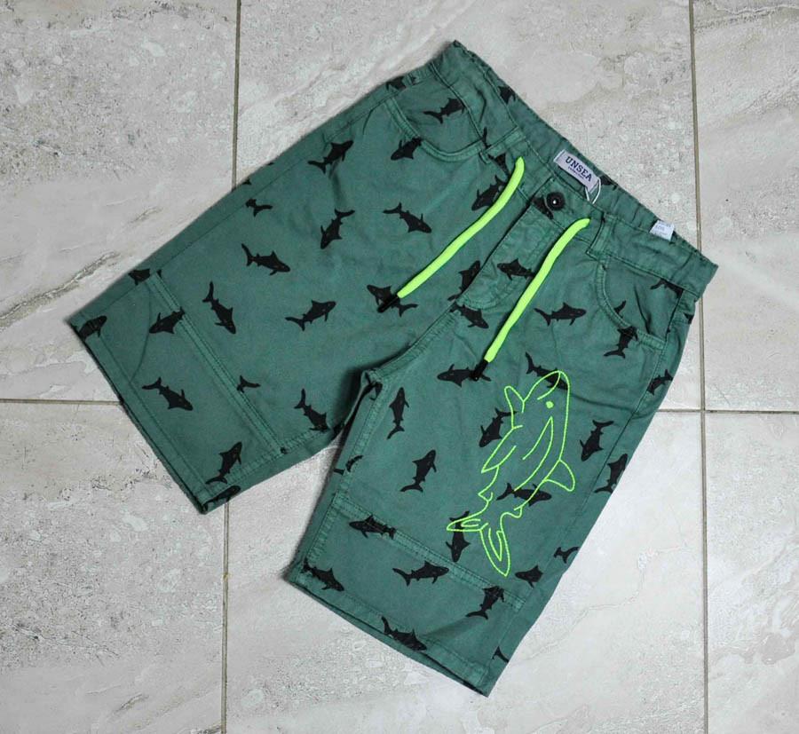 Шорты зеленого цвета на шнуровке для мальчика, N and K Unsea