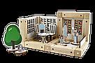 Деревянный конструктор Зевс Эко-домик на магнитах 38 деталей (ДД38), фото 4