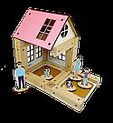 Деревянный конструктор Зевс Эко-домик на магнитах 38 деталей (ДД38), фото 5
