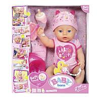 Детская Игровая Плачущая Кукла Бэби Борн Нежные объятия Очаровательная малышка 43 см Baby Born Zapf Creation