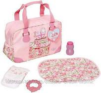 Детская Игровая Переносная Сумка для Куклы Бэби Аннабель с аксессуарами розовая Baby Annabell Zapf Creation