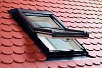 Вікно мансардне деревяне 65х118 см, з WD блоком (Roto Designo R45).