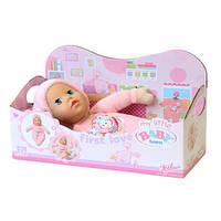 Детская Игровая Кукла Беби Бон Супермягкаяв розовой мягкой шапке 30 см My Little Baby Born Zapf Creation