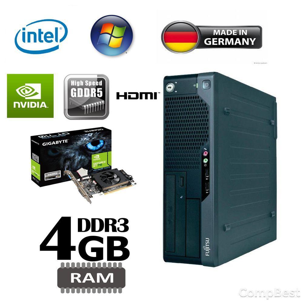 Fujitsu e5731 SFF / Intel Core 2 Duo e8400 (2 ядра по 3GHz) / 4GB DDR3 / 160GB HDD / НОВАЯ nVidia GeForce GT 710 2 GB GDDR5 с ГАРАНТИЕЙ 2 года