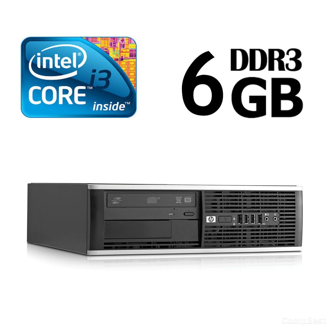 HP 6300 Ellite SFF / Intel Core i3-2100 (2(4) ядра по 3.1GHz) / 6GB DDR3 / 320GB HDD / USB 3.0
