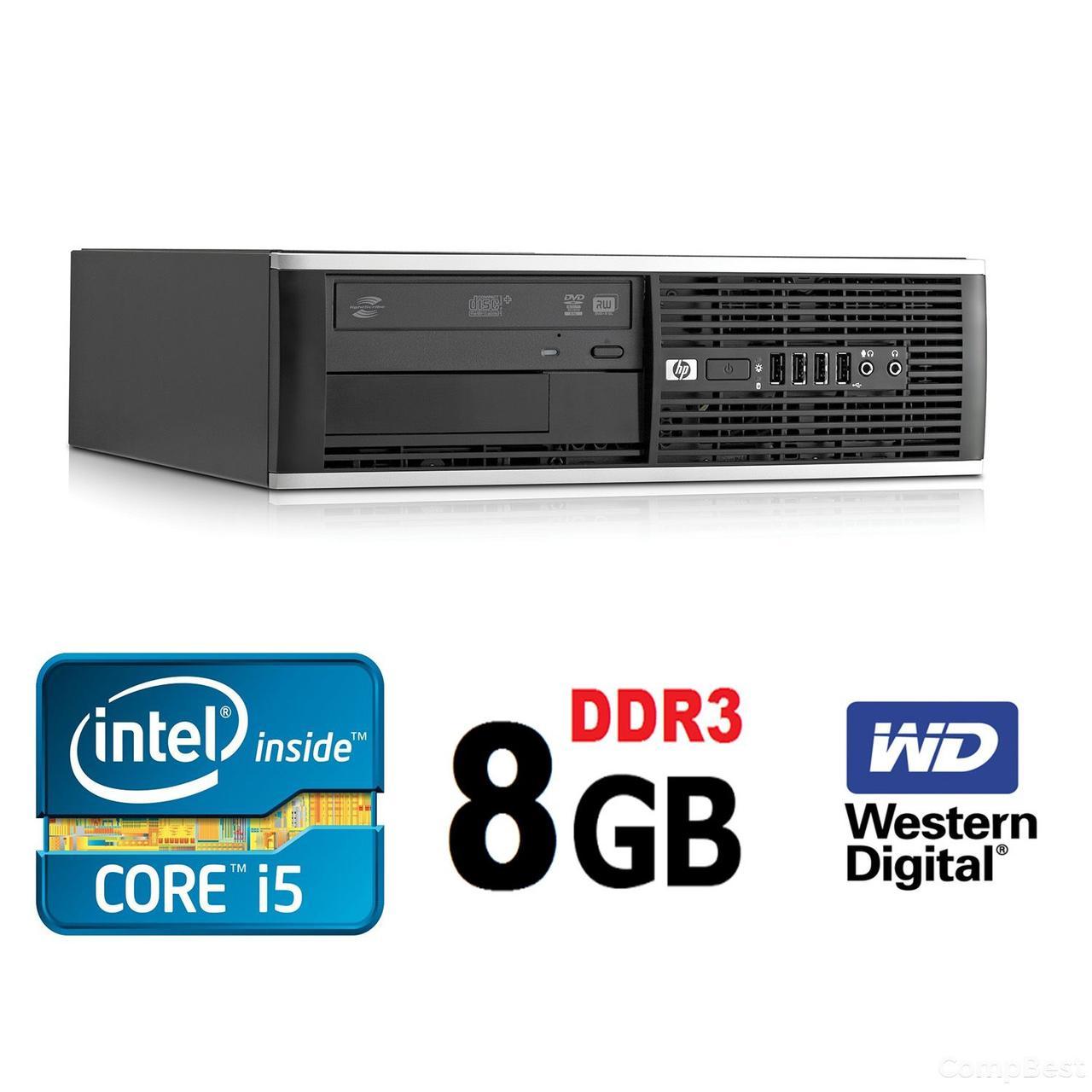 HP 6300 Ellite SFF / Intel i5-2400 (4 ядра, 3.1(3.4)GHz, 6MB) / 8GB DDR3 / 500GB HDD / USB 3.0
