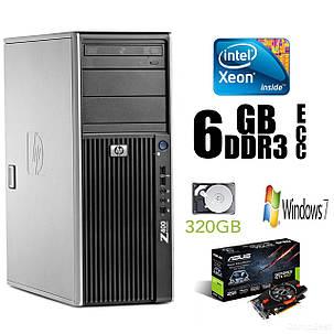 Hewlett-Packard Z400 Tower / Intel Xeon W3565 (4(8) ядра по 3.2-3.46GHz) / 6GB DDR3 ECC / 320 GB HDD / nVidia GeForce GTX 650 GDDR5 1GB 128-bit / БП, фото 2