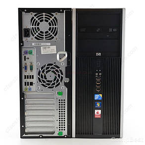 HP DC8000 Tower / Intel Core 2 Duo E8400 (2 ядра по 3.0 GHz) / 4 GB DDR3 / 250 GB HDD / GeForce GT 430 1 GB, фото 2