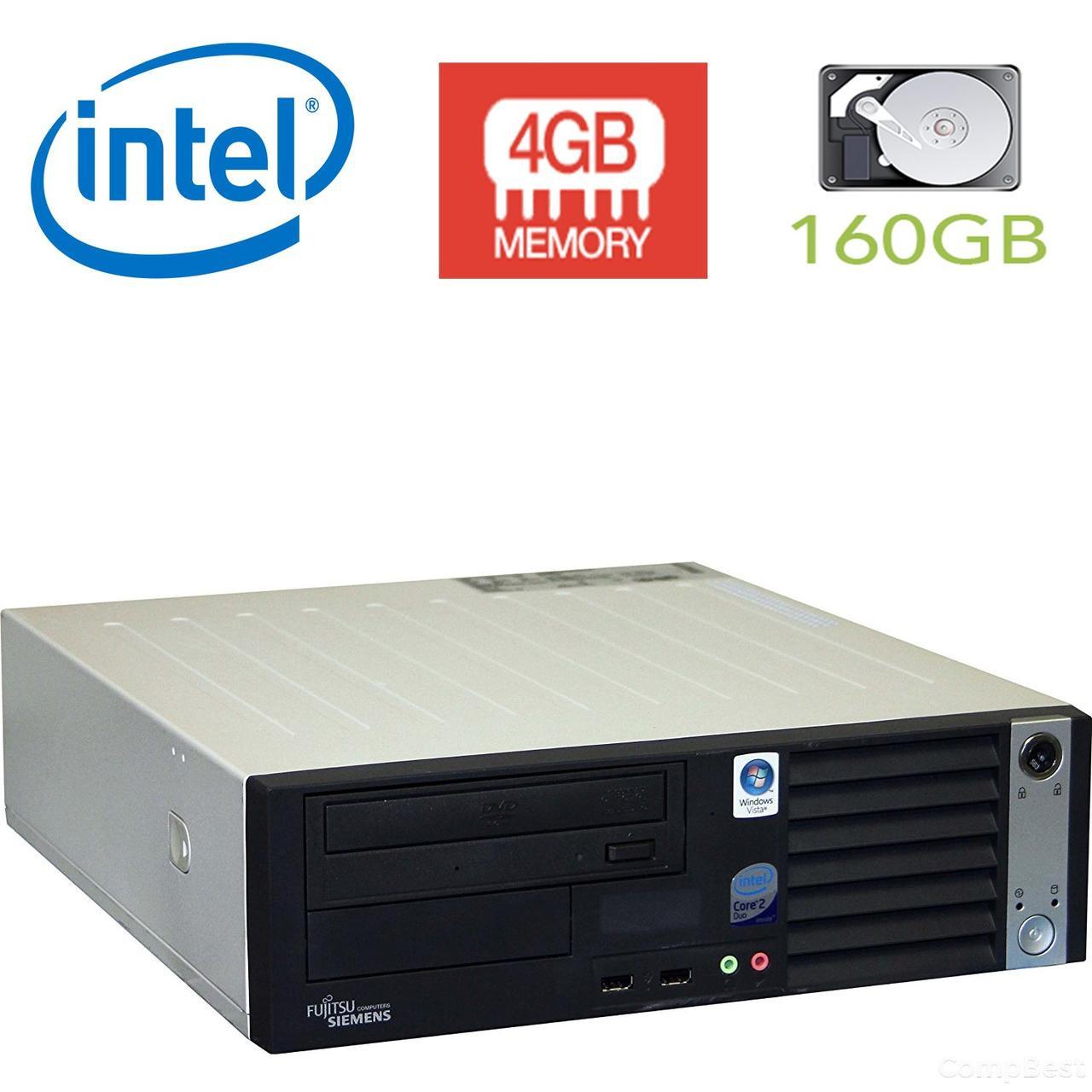 Fujitsu-Siemens Esprimo E5720 sff / Intel Pentium Dual-Core E6600 (2 ядра по 3.06GHz) / 4GB DDR2 / 160 GB HDD