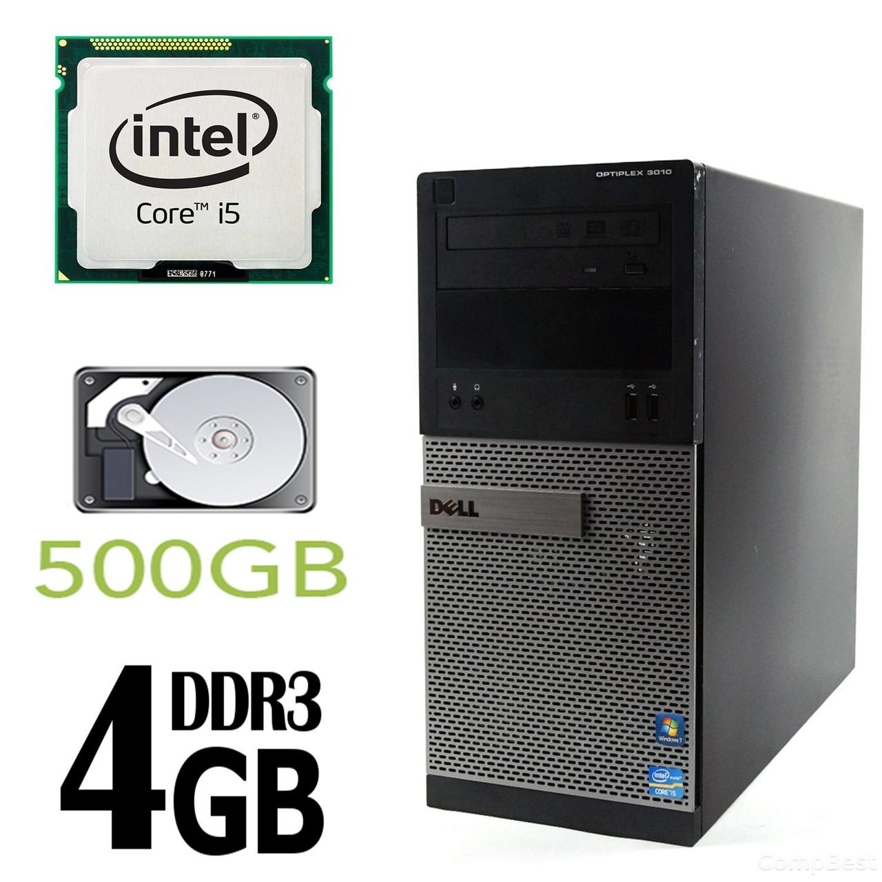 DELL 3010 Tower / Intel Core i5-3470 (4 ядра по 3.2GHz) / 4GB DDR3 / 500GB HDD