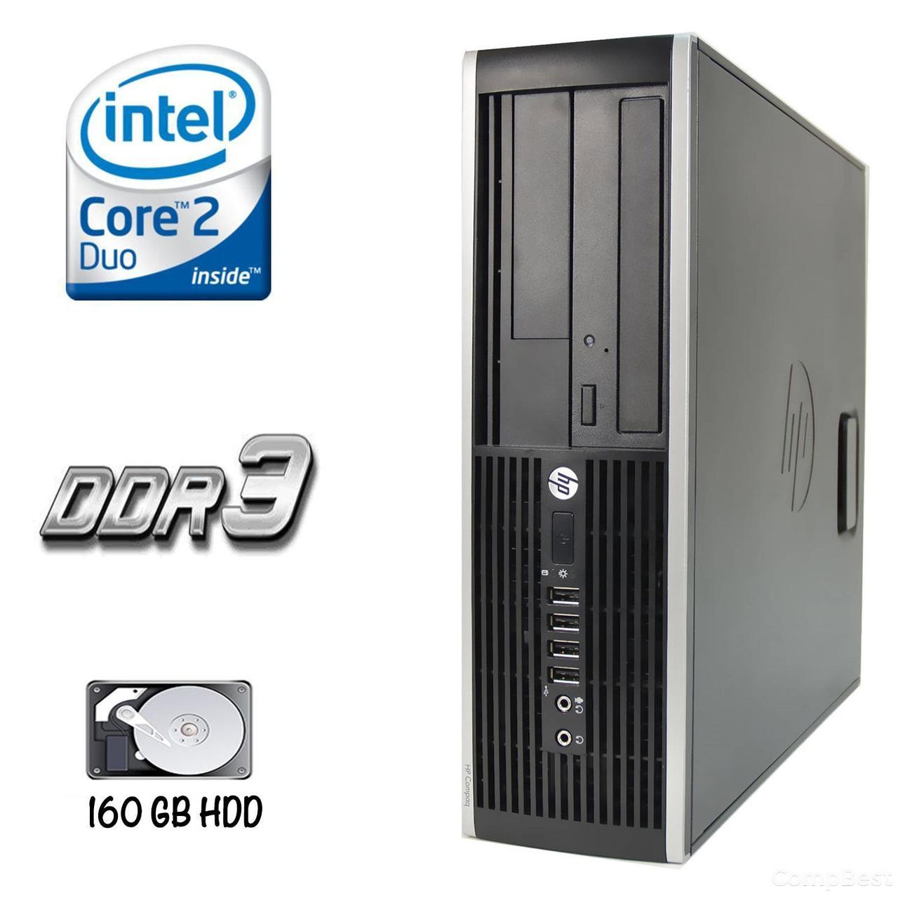 HP 6000 Pro SFF / Intel Core 2 Duo E7500 (2 ядра по 2.93GHz) / 4 GB DDR3 / 160 GB HDD