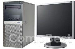 "Dell 390 Tower / Intel Core i3-2100 (2(4) ядра по 3.1GHz) / 4GB DDR3 / 320GB HDD  + наклейка Windows 7 + монитор / 19"" /"