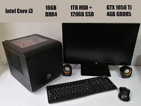 Thermaltake MicroATX / Intel Core i3-7100 (2(4) ядра по 3.9GHz) / 16GB DDR4 / 1TB HDD + 120GB SSD / Zotac GeForce GTX 1050 Ti 4GB GDDR5 / БП 500W +, фото 2