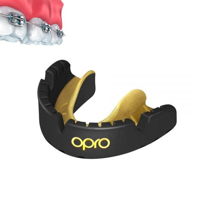 Капа OPRO Gold Braces Black/Goldl (art.002227005)