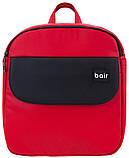 Коляска 2 в 1 Bair Mirello кожа 100% M-10/30 красный - черный, фото 8