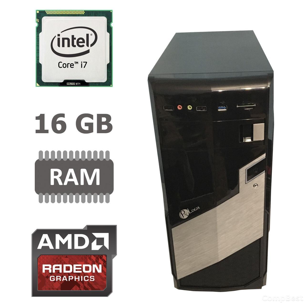 MSI Tower / Intel® Core™ i7-3770 (4 (8) ядра по 3.40 - 3.90 GHz) / 16 GB DDR3 / new 120 GB SSD + 500 GB HDD / Radeon RX580 8GB GDDR5 256bit / БП 650 W