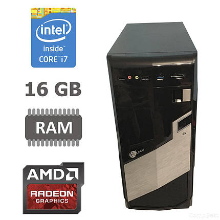 MSI Tower / Intel® Core™ i7-2600 (4 (8) ядра по 3.40 - 3.80 GHz) / 16 GB DDR3 / new 120 GB SSD + 500 GB HDD / Radeon RX580 8GB GDDR5 256bit / БП 650 W, фото 2