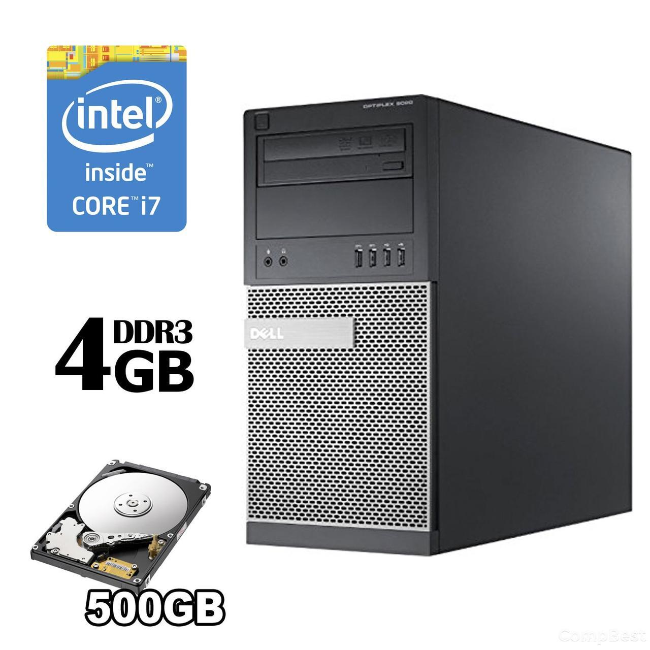 Dell Optiplex 9020 Tower / Intel® Core™ i7-4790 (4 (8) ядра по 3.6 - 4.0 GHz) / 4GB DDR3 / 500 HDD