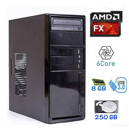 MiniTower / AMD FX-6100 (6 ядер по 3.3 - 3.9 GHz) / 8GB DDR3 / 250GB HDD / БП 420W / USB 3.0, фото 2