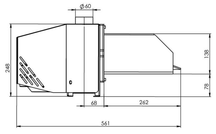 Пеллетная горелка Bioprom AIR Pellet 36 кВт, фото 2