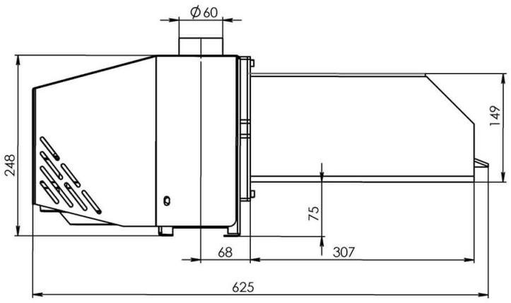 Пеллетная горелка Bioprom AIR Pellet 50 кВт, фото 2