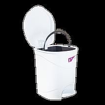 Ведро для мусора с педалью Irak Plastik Bella №2 19л белое, фото 3