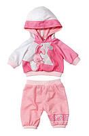 Детский Игровой Набор одежды для Куклы Беби Бон Спортивная малышка Зайчик розовый Baby Born Zapf Creation