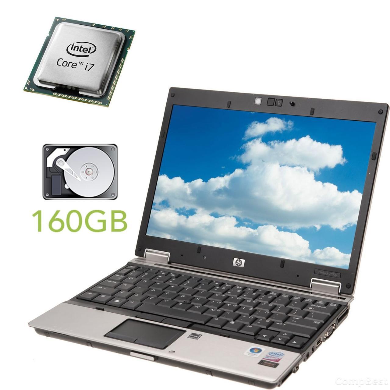 """Hewlett-Packard EliteBook 2540p / 12.1"""" /  Intel Core i7-640LM (2(4) ядра по 2.13GHz) / 2 GB DDR3 / 160 GB HDD / Веб-камера"""