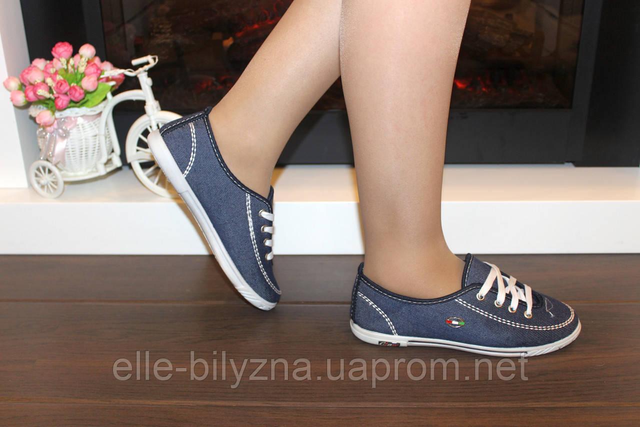 Кеды женские джинсовые Т342