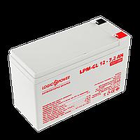 Аккумулятор гелевый LPM-GL 12V - 7.2 Ah, фото 1